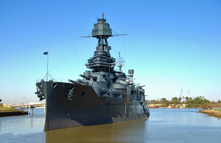 USS Texas (BB-35) and San Jacinto Monument