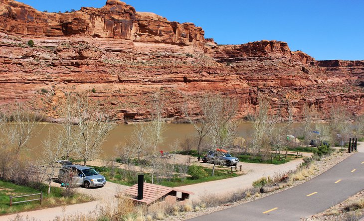 Camping along the Colorado River near Moab