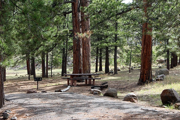 Pleasant Creek Campground in Dixie National Forest