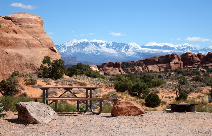 Arches National Park Goose Island Camping