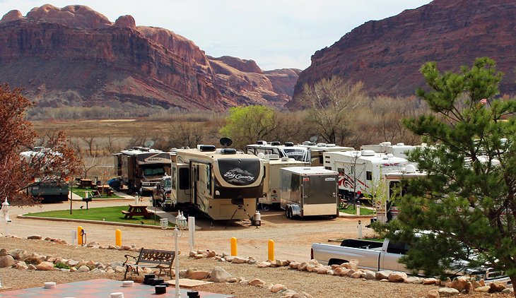 Campgrounds and RV Parks in the Town of Moab