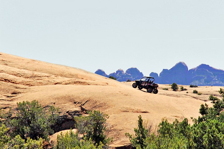 ATV in the Sand Flats Recreation Area