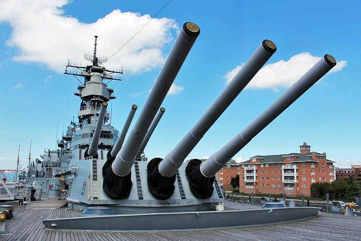 Battleship Wisconsin and the Nauticus Maritime Center