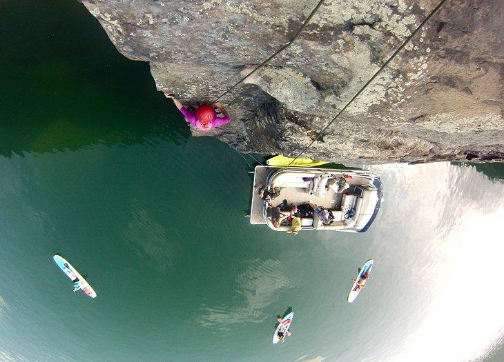 Escalada en roca Anietra en Summersville Lake