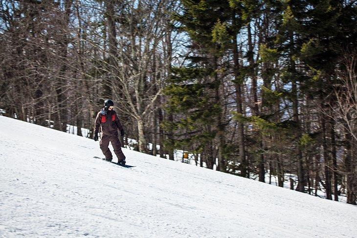 Montaña con raquetas de nieve