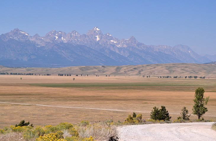 The Tetons are on full display from the Curtis Canyon Campground.
