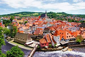 Tourist attractions in Cesky Krumlov, Czech Republic