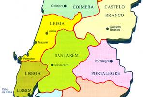 Portugal Travel Guide PlanetWare - Portugal map tomar