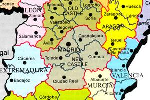 Spain Travel Guide PlanetWare - Spain historical map