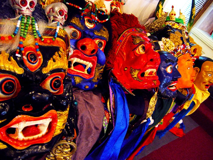Tibetan Mongolian Buddhist Cultural Center masks