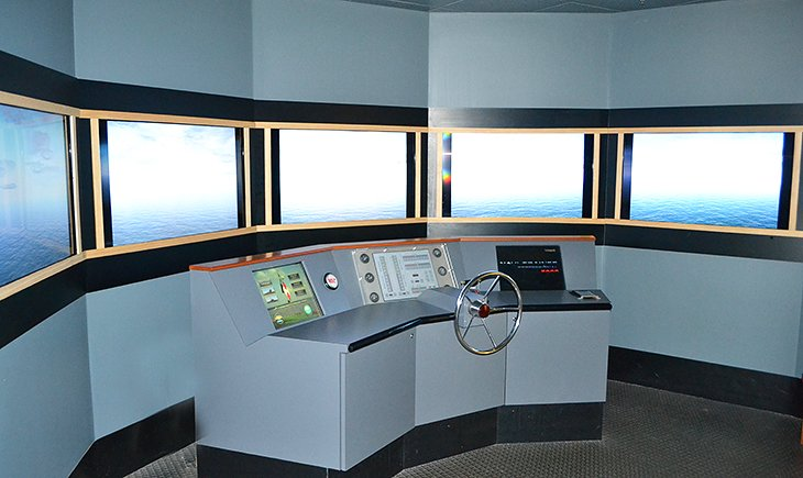 Boat Simulator at the River Discovery Center