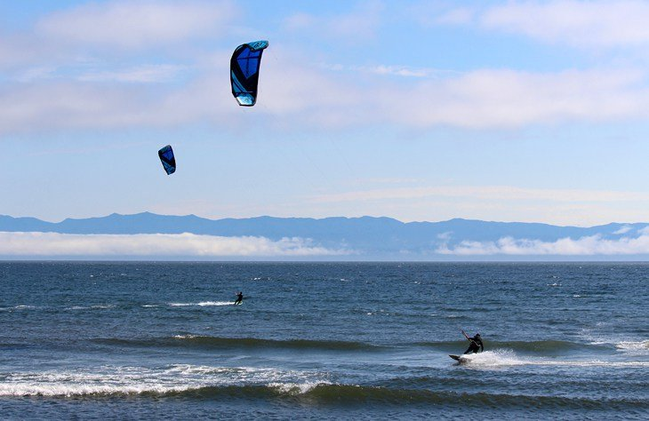 Kiteboarders at Jordan River Regional Park