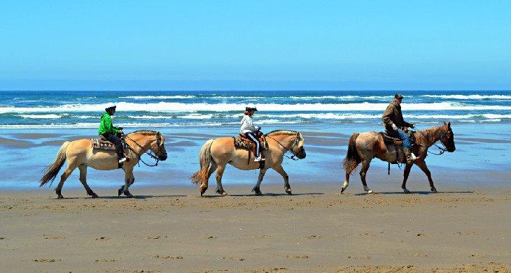 Montar a caballo en Nehalem Bay State Park