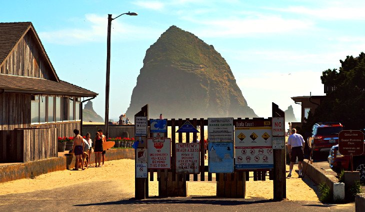 Haystack Rock near Wright's for Camping