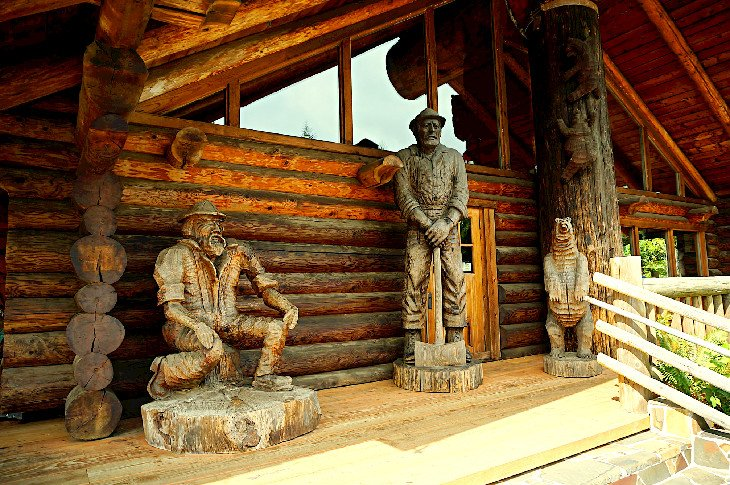 Camp 18 woodcarvings