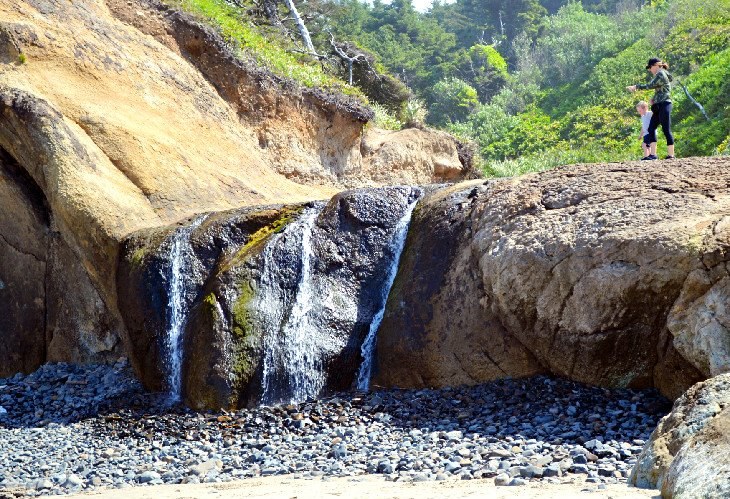 Waterfall at Hug Point State Recreation Site
