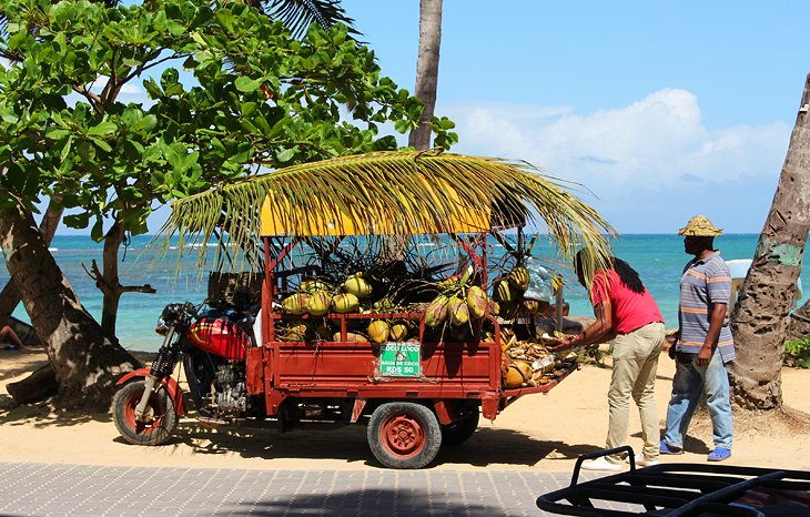 Coconut seller in Las Terrenas