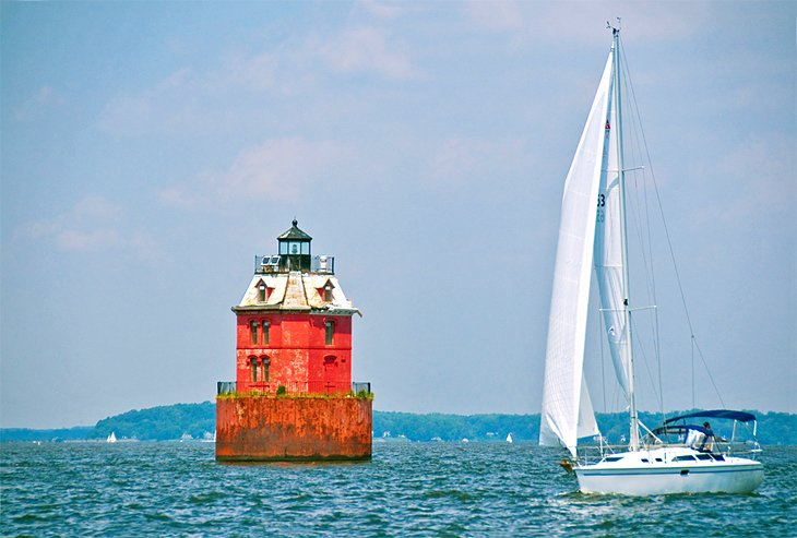 Sandy Shoal Lighthouse in Chesapeake Bay