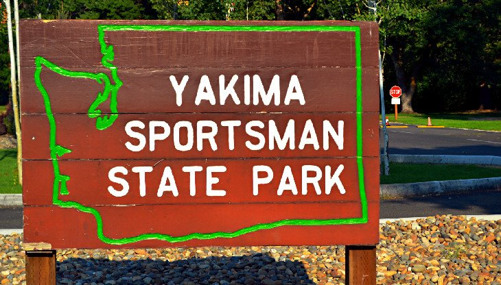 Entrance to Yakima Sportsman State Park