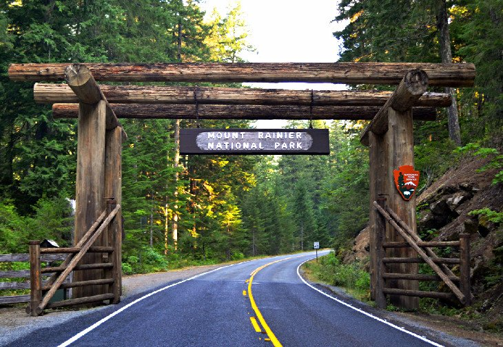 Entrada al Parque Nacional Monte Rainier