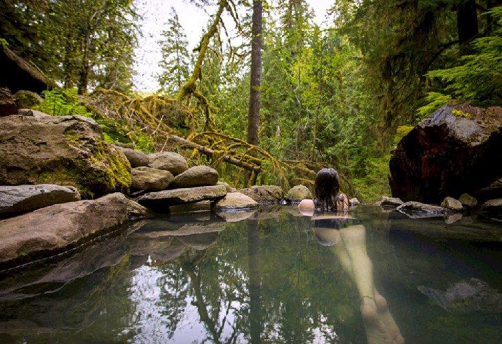 Soaking in Terwilliger Hot Springs