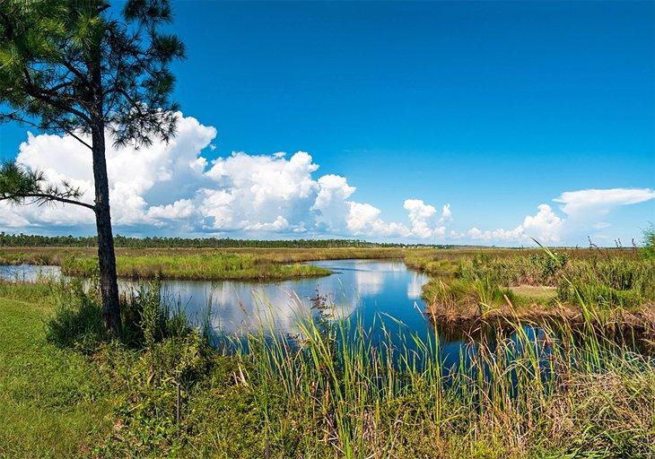 Parque estatal del golfo en Gulf Shores, Alabama