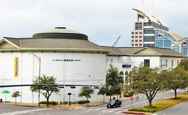 IMAX theater and Gulf Coast Exploreum Science Center