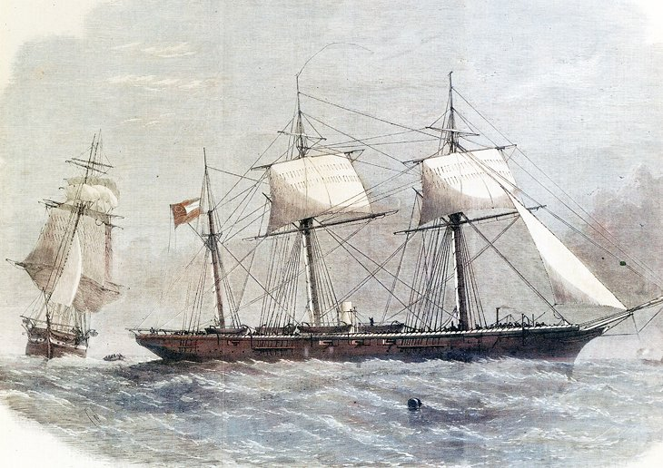 Drawing of the CSS Alabama
