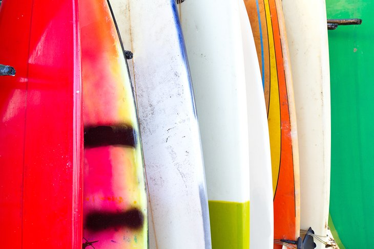 Surfboard closeup