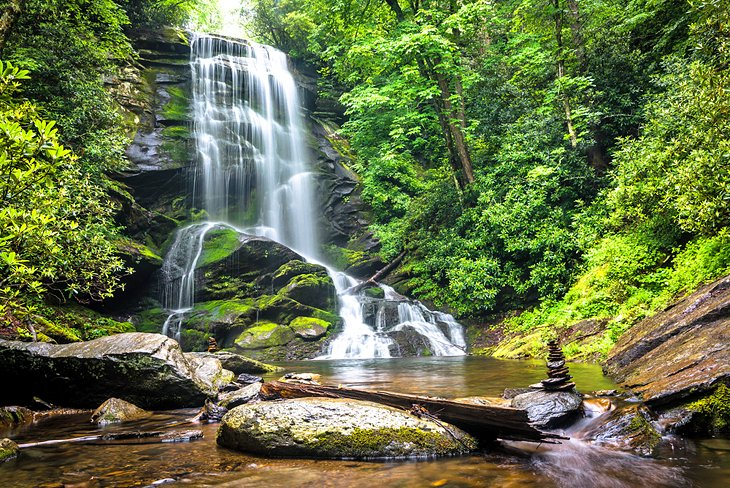 Upper Catabwa Falls in Pisgah National Forest