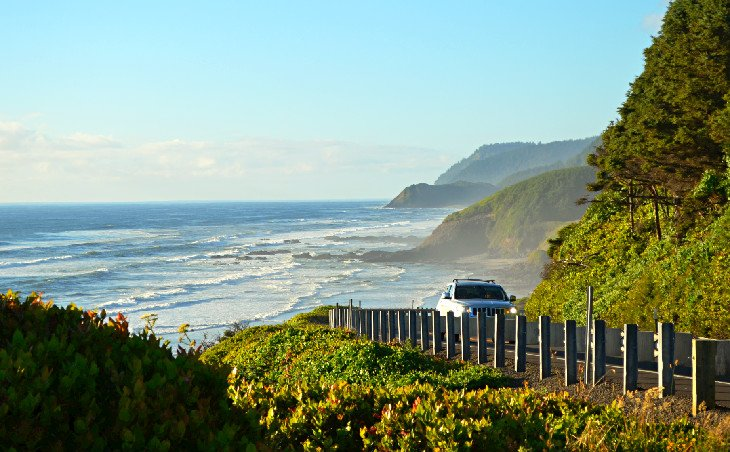 Highway 101 on the central Oregon coast