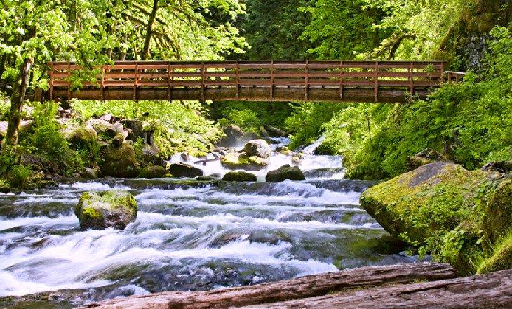 Puente sobre la ruta de senderismo de Ainsworth
