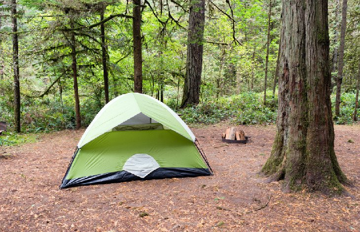 Tent at Oxbow Regional Park