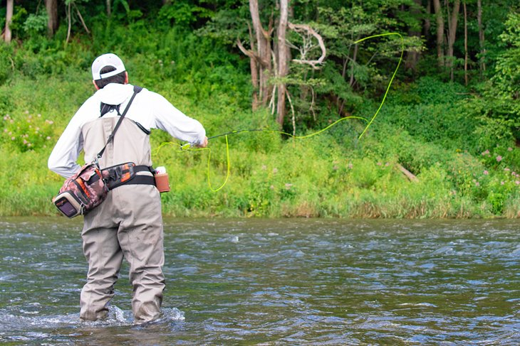 Fly fishing on the Delaware River