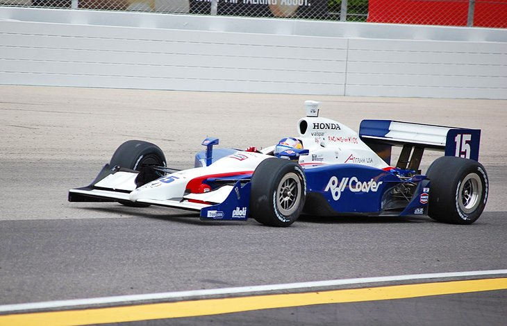 Formula One race car at the Milwaukee Mile