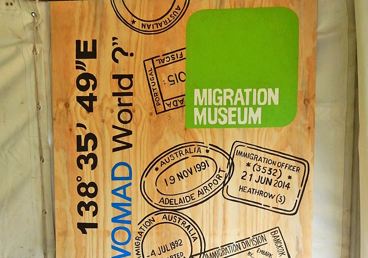 Migration Museum display