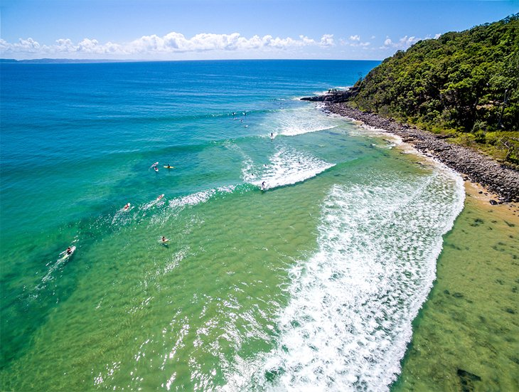 Surfing at Noosa Heads