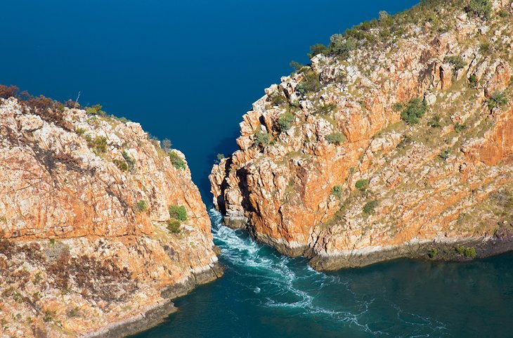 Aerial view of the Horizontal Falls