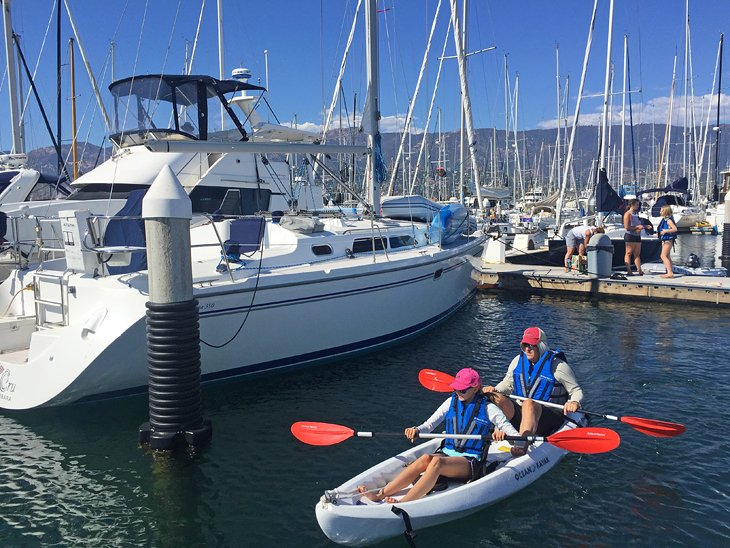 Kayaking at the Santa Barbara Harbor