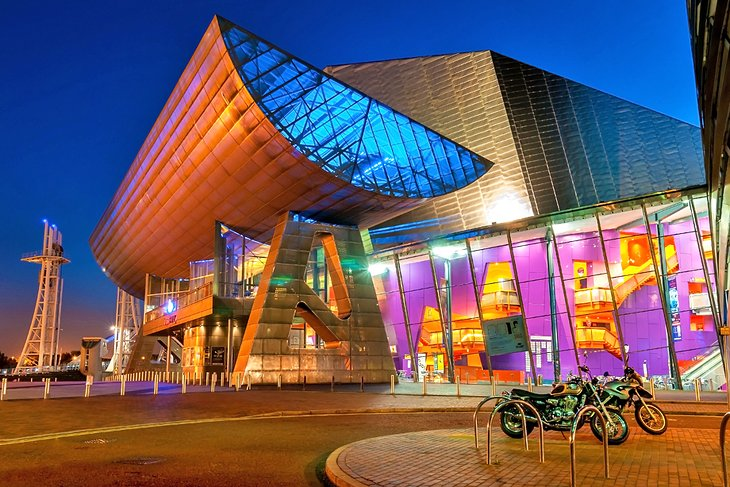 The Lowry, a performing arts theater complex in Greater Manchester