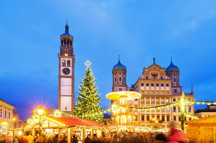 The Perlachturm and Christmas Market