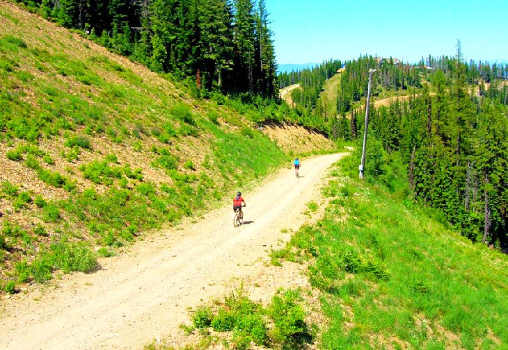 Mountain biking at Silver Mountain