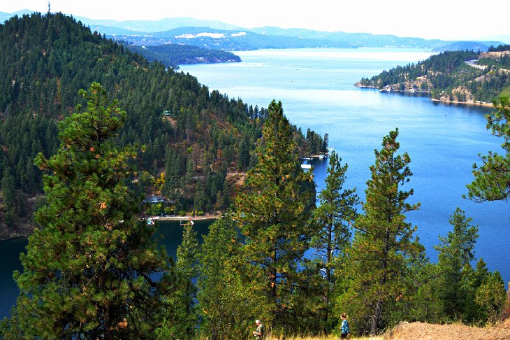Mineral Ridge View of Lake Coeur d'Alene