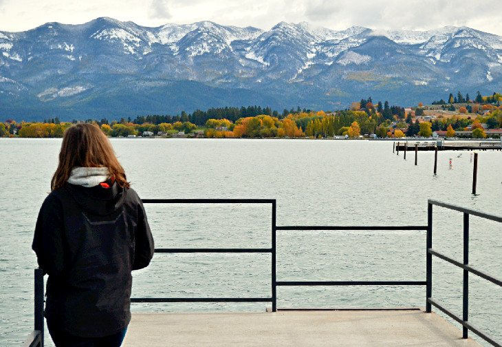 Mission Mountains seen from Flathead Lake