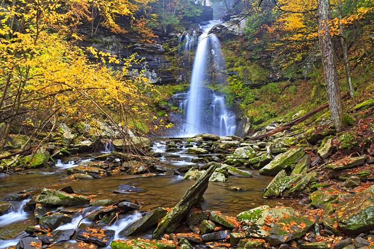 Plattekill Falls in the Catskills
