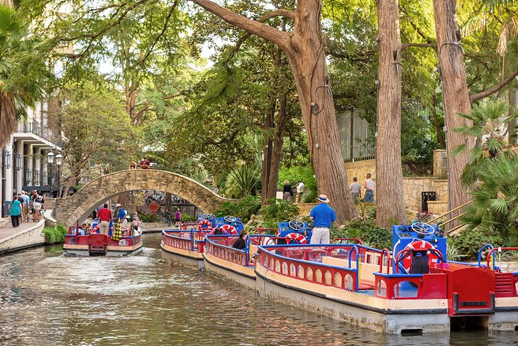 River boats on the San Antonio River