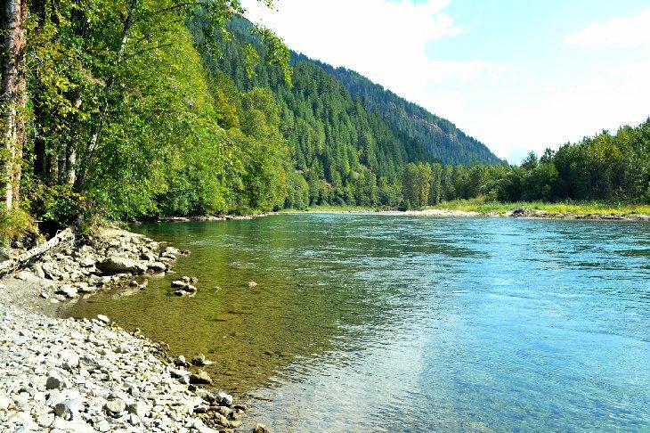 El río Skagit salvaje y escénico