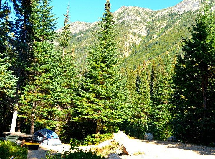 Fondo de montaña en Lone Fir Campground