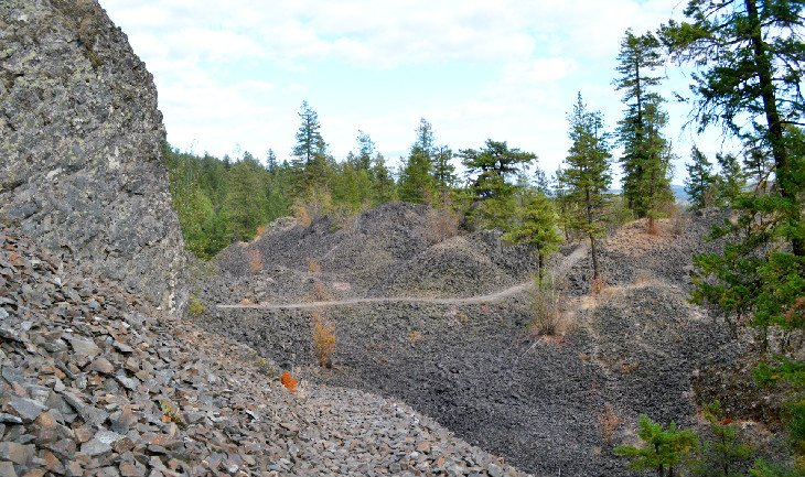 Basalt boulder field in Deep Creek Canyon