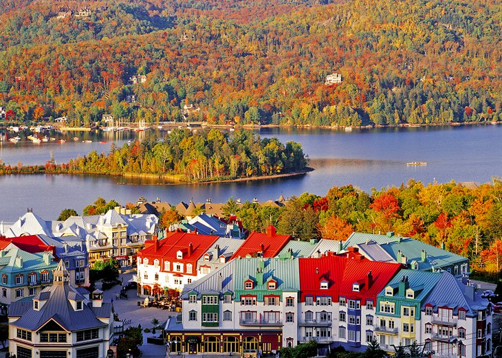 Pedestrian village at the Mont Tremblant Resort